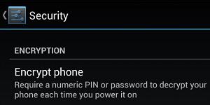 Encrypt your phone