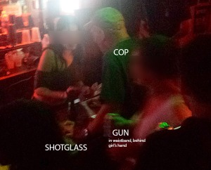 Armed NYPD Officer Drinking