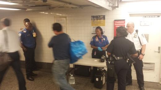 Smurfs in Penn Station