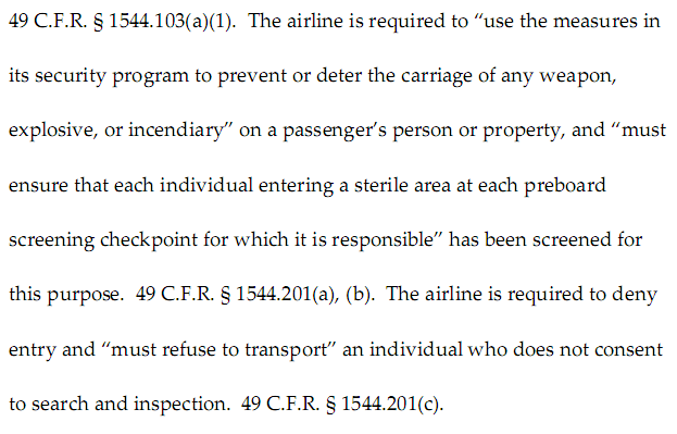TSA Reply to Jurisdictional Question