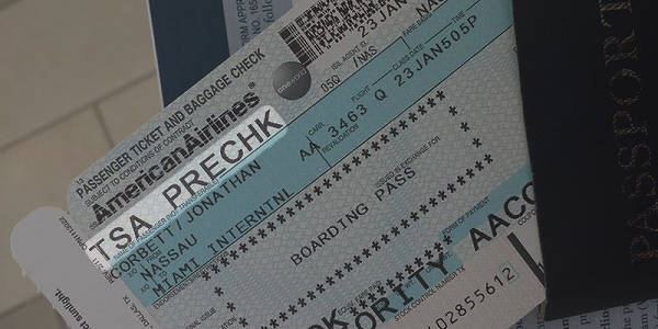 Ticket with TSA Pre-Check Endorsement