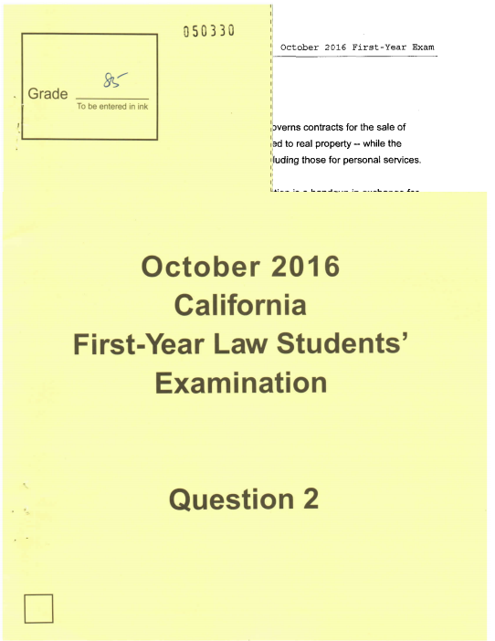 california bar essays answers California bar prep for working the mystery out of writing bar exam essays by providing answers to the numerous bar review courses, and lawprism is the.