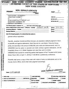 Default Judgment against Ward Security Inc.