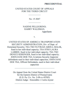 Pellegrino v. TSA - Panel Opinion
