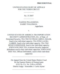 Pellegrino v. TSA - Panel Opinion