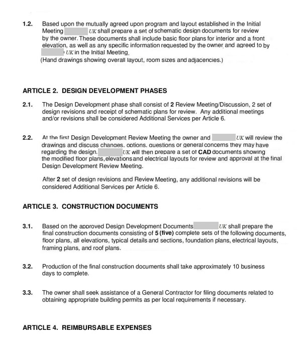 Fake Architecture Contract