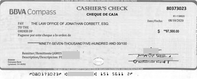 Fake Cashier's Check